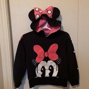 Disney Minnie Mouse Black & Pink Hoodie